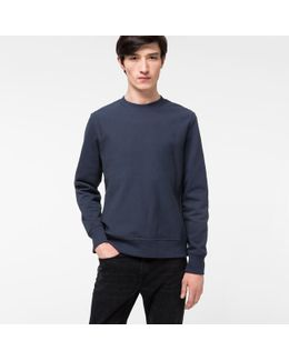 Men's Washed Navy Organic-cotton Sweatshirt