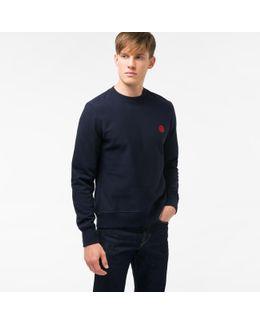 Men's Navy Embroidered Ps Logo Organic-cotton Sweatshirt