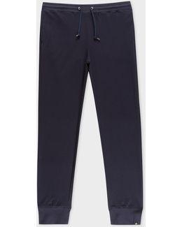 Men's Navy Cotton-blend Sweatpants