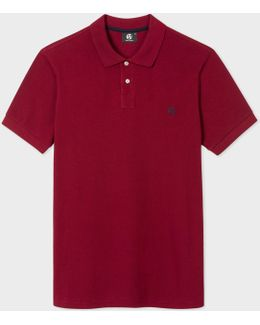 Men's Damson Ps Logo Organic-cotton Polo Shirt