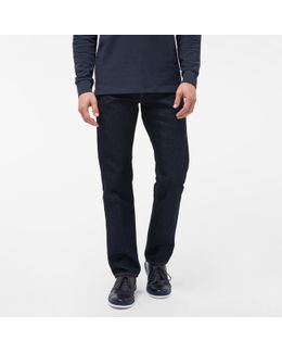 Men's Standard-fit Indigo-rinse Ozone-wash Organic-cotton Jeans