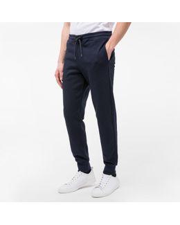 Men's Navy Blue Organic-cotton Sweatpants