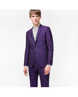 The Kensington - Men's Slim-fit Purple Wool And Mohair-blend Travel Suit