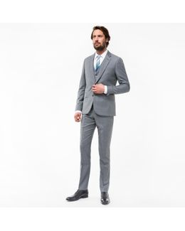 The Soho - Men's Tailored-fit Grey Three-piece Wool Suit