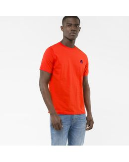 Men's Red Organic-cotton Flocked Ps Logo T-shirt