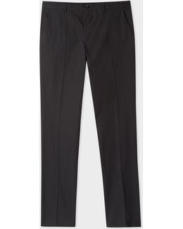 Men's Slim-fit Black Lightweight Cotton Chinos