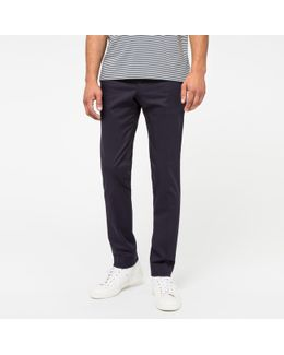 Men's Slim-fit Navy Stretch-cotton Chinos