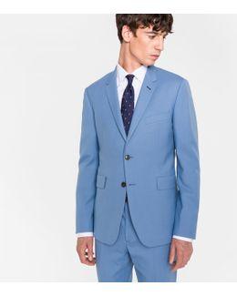 The Kensington - Men's Slim-fit Light Blue Wool 'suit To Travel In'