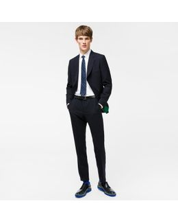 The Mayfair - Men's Classic-fit Navy Wool 'suit To Travel In'