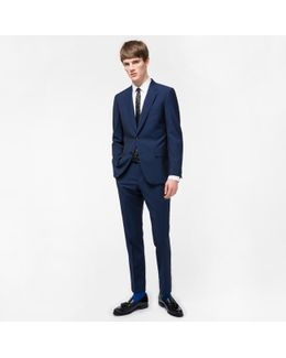 The Mayfair - Men's Classic-fit Blue Wool-mohair 'suit To Travel In'