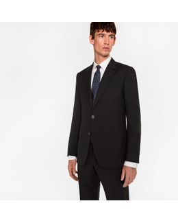 The Mayfair - Men's Classic-fit Black Wool-mohair 'suit To Travel In'
