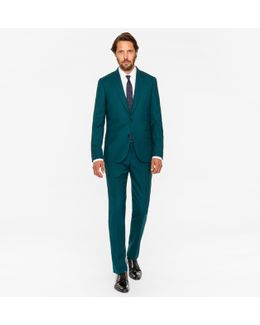 The Soho - Men's Tailored-fit Dark Green Wool 'suit To Travel In'