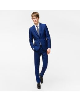 The Soho - Men's Tailored-fit Indigo Wool-mohair 'suit To Travel In'