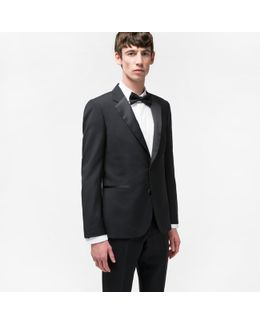The Soho - Men's Tailored-fit Black Wool And Mohair-blend Evening Suit