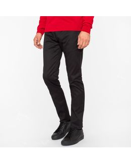 Soho Black Wool Travel Trousers