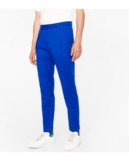 Men's Indigo Wool Tapered Trousers