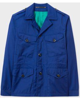 Men's Blue Loro Piana Storm System® Wool Field Jacket
