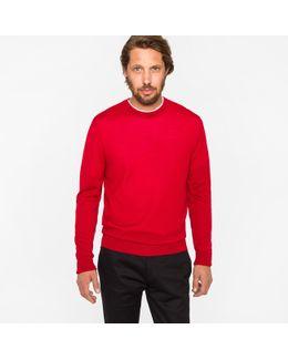 Men's Red Merino Wool Sweater
