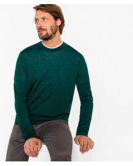 Men's Dark Green Merino Wool Sweater