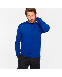 Men's Blue Merino Wool Sweater