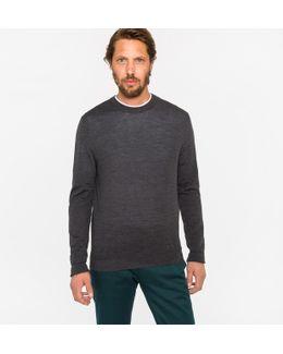 Men's Grey Merino Wool Sweater
