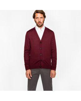 Men's Damson Merino Wool Cardigan