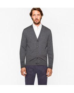 Men's Grey Merino Wool Cardigan
