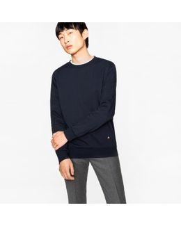 Men's Navy Loopback-cotton Sweatshirt With 'rainbow' Motif