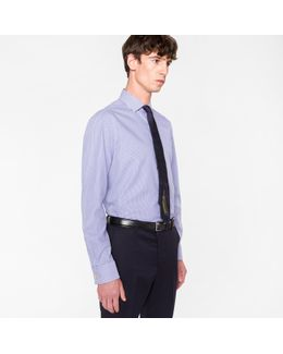Men's Tailored-fit Navy Stripe 'artist Stripe' Double-cuff Shirt