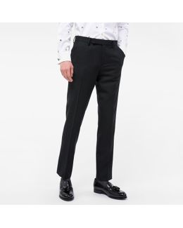 A Suit To Travel In - Men's Slim-fit Charcoal Grey Wool Trousers