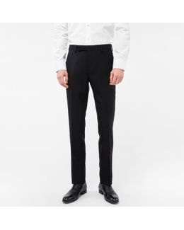 A Suit To Travel In - Men's Slim-fit Black Wool Trousers