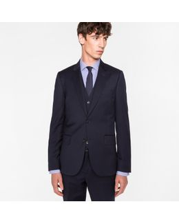 The Soho - Men's Tailored-fit Navy Wool Three-piece Suit