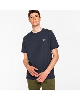 Men's Navy Organic-cotton Zebra Logo T-shirt