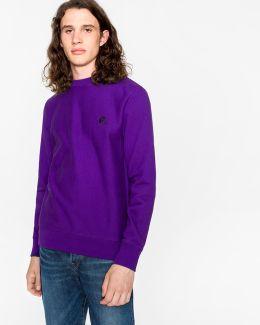 Men's Purple Embroidered Ps Logo Organic-cotton Sweatshirt