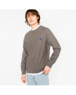 Men's Grey Embroidered Ps Logo Organic-cotton Sweatshirt
