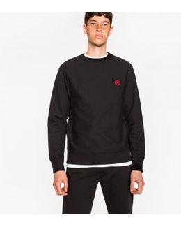 Men's Black Embroidered Ps Logo Organic-cotton Sweatshirt