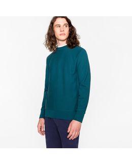 Men's Petrol Organic-cotton Sweatshirt