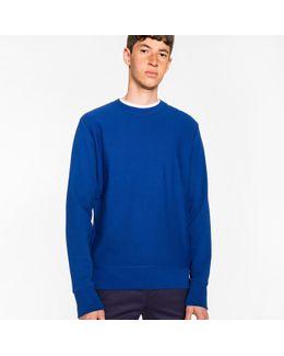 Men's Blue Organic-cotton Sweatshirt