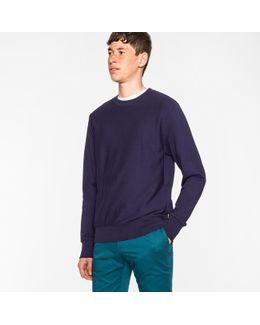Men's Navy Organic-cotton Sweatshirt