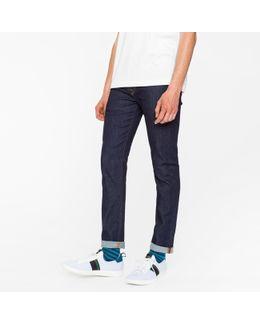 Men's Skinny-fit 9.5oz Indigo-rinse Stretch-denim Jeans
