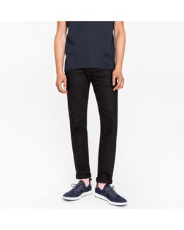 Men's Slim-fit 12oz 'super Black' Stretch-denim Jeans