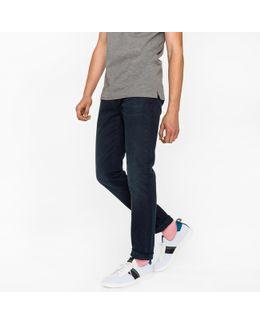 Men's Slim-fit 11.8oz Over-dyed Wash 'super Soft Cross-hatch' Stretch-denim Jeans