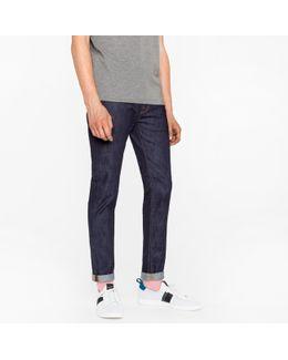 Men's Slim-fit 11.8oz Indigo-rinse 'super Soft Cross-hatch' Stretch-denim Jeans