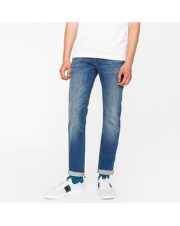 Men's Slim-fit 9.5oz Dark-wash Stretch-denim Jeans