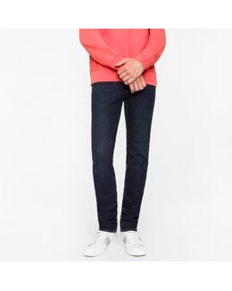 Men's Slim-fit 14oz '4-way Stretch' Denim Dark-wash Jeans