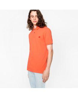 Men's Coral Organic Cotton-piqué Ps Logo Polo Shirt