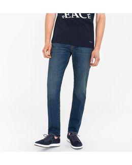Men's Tapered-fit 11oz 'stretch Denim Red Cast' Dark-wash Jeans