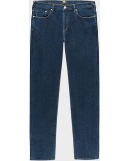 Men's Tapered-fit 14oz '4-way Stretch' Denim Mid-wash Jeans