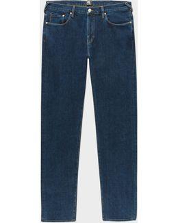 Men's Tapered-fit 14oz '4-way Stretch' Denim Mid-wash Jeans