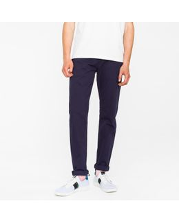 Men's Tapered-fit 9oz Garment-dye Navy Denim Jeans